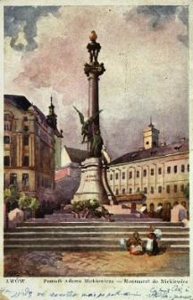 Lwów : pomnik Adama Mickiewicza