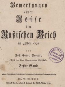 Bemerkungen einer Reise im Russischen Reich im 1772, T.I