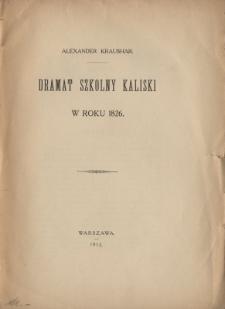 Dramat szkolny kaliski w roku 1826