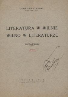 Literatura w Wilnie i Wilno w literaturze