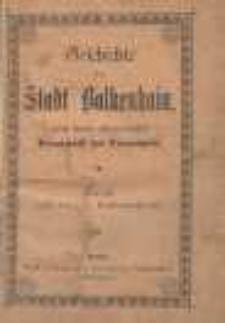 Geschichte der Stadt Bolkenhain, nebst einem alphabetischen Verzeichniss der Einwohner
