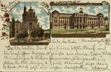 Lwów : kościół św. Andrzeja i klasztor Bernardynów we Lwowie oraz gmach Sejmu Krajowego Galicji