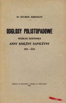 Odgłosy polistopadowe według dziennika Anny księżny Sapieżyny 1831-1833