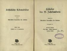 Schlesische Lebensbilder. Bd. 1. Schlesier des 19. Jahrhunderts
