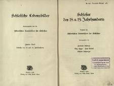 Schlesische Lebensbilder. Bd. 2. Schlesier des 18. u. 19. Jahrhunderts