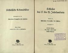 Schlesische Lebensbilder. Bd. 3. Schlesier des 17. bis 19. Jahrhunderts