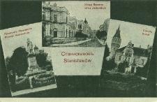 Stanisławów : pomnik Mickiewicza, ulica Jachowicza, Sokół