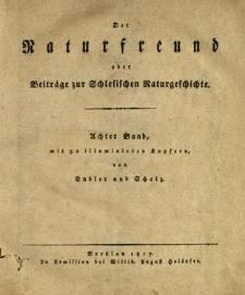 Der Naturfreund oder Beiträge zur Schlesischen Naturgeschichte. Bd. 8