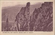 Czarnohora : część zachodnia, sceneria skalna na Szpyciach