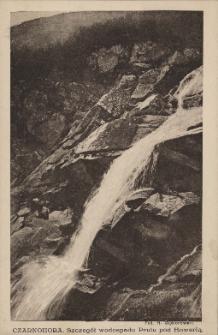 Czarnohora : szczegół wodospadu Prutu pod Howerlą