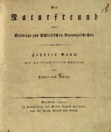 Der Naturfreund oder Beiträge zur Schlesischen Naturgeschichte. Bd. 10