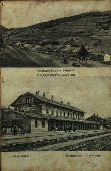 Ławoczne : widok na stację kolejową