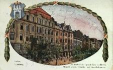 Lwów : ulica Akademicka i gmachi Izby Handlowej