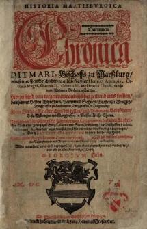 Historia Martisburgica darinnen Chronica Ditmari