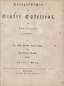 Zeitgeschichte der Städte Schlesiens..., T.2