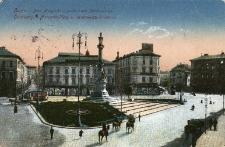 Lwów : Plac Maryacki z pomnikiem Mickiewicza