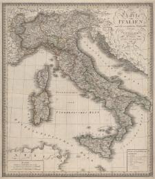 Charte von Italien nach den vorzüglichsten Hülfsmitteln entworfen von C.F. Weiland