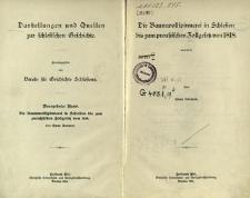 Darstellungen und Quellen zur schlesischen Geschichte. Bd. 19. Die Baumwollspinnerei in Schlesien bis zum preussischen Zollgesetz von 1818