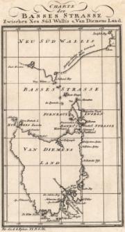 Charte der Basses Strasse Zwischen Neu Süd Wallis u. Van Diemens Land. Stapels u. Canals so wie des projectirten Londner Wasser-Stapels