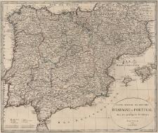 Carte general des royomes d'Espagne et Portugal. Avec les principales Divissiones