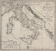 Charte von Italien Wie es vor der französischen Revolution war und wie es jetzt ist. Entworfen von F.G.