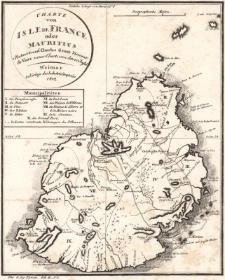 Charte von Isle de France oder Mauritius Reducirt nach Charles Grant Viscount de Vaux neuer Charte von dieser Insel