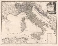 Karte von Italien. Nach d'Anville Neu verzeichnet herausgegeben von Franz Joh. Jos. von Reilly