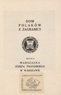 Dom Polaków z Zagranicy im. marszałka Józefa Piłsudskiego w Warszawie