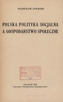 Polska polityka socjalna a gospodarstwo społeczne