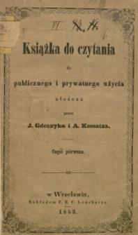 Książka do czytania : do publicznego i prywatnego użycia. Cz. 1