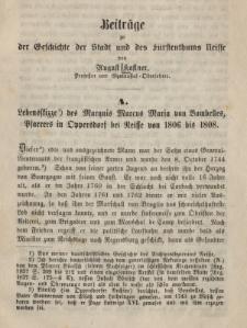 Beiträge zu der Geschichte der Stadt und des Fürstenthums Neisse