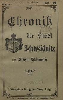 Chronik der Stadt Schweidnitz
