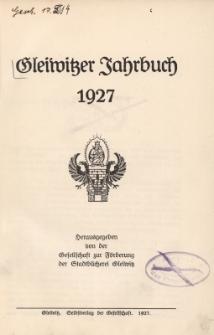 Gleiwitzer Jahrbuch 1927