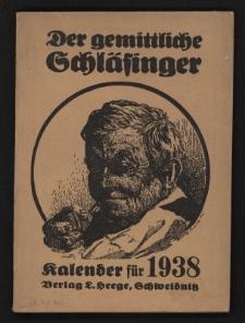 Der gemittliche Schläsinger (Rübezahlkalender) : Kalender für die Provinz Schlesien. Jg.56