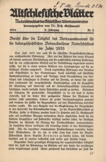 Altschlesische Blätter 1934 : Jg.9, Nr 2