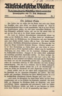 Altschlesische Blätter 1934 : Jg.9, Nr 3