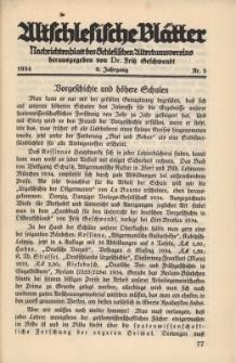 Altschlesische Blätter 1934 : Jg.9, Nr 5