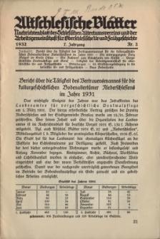 Altschlesische Blätter 1932 : Jg.7, Nr 2