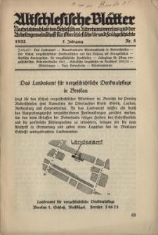 Altschlesische Blätter 1932 : Jg.7, Nr 5