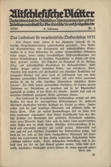 Altschlesische Blätter 1933 : Jg.8, Nr 3