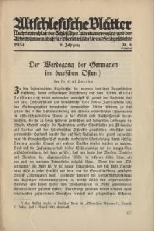 Altschlesische Blätter 1933 : Jg.8, Nr 6