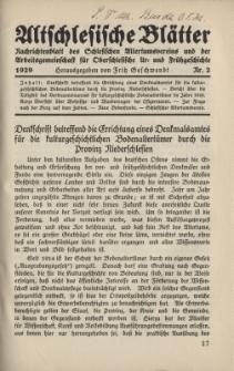 Altschlesische Blätter 1929 : Jg.4, Nr 2