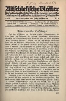 Altschlesische Blätter 1929 : Jg.4, Nr 6