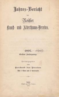 Jahresbericht des Neisser Kunst- und AlterthumsVereins 1897