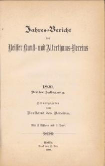 Jahresbericht des Neisser Kunst- und AlterthumsVereins 1899