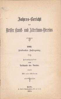 Jahresbericht des Neisser Kunst- und AltertumsVereins 1903