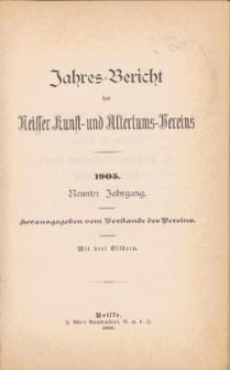 Jahresbericht des Neisser Kunst- und AltertumsVereins 1905