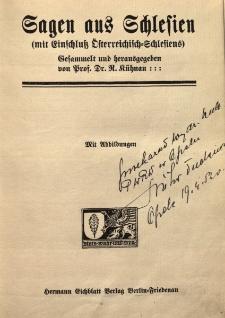 Sagen aus Schlesien : (mit Einschluss Österreichisch-Schlesiens)