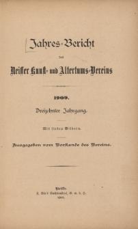Jahresbericht des Neisser Kunst- und AltertumsVereins 1909