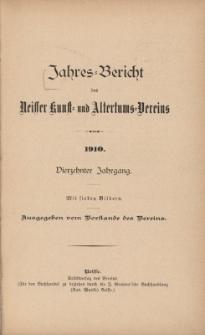Jahresbericht des Neisser Kunst- und AltertumsVereins 1910